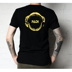 T-Shirt nera PADI Megalodon
