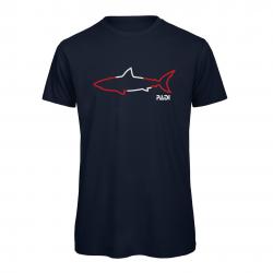PADI Shark Outline Tee -Navy