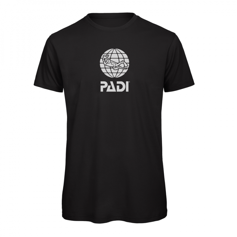 T-shirt PADI da uomo - Nero