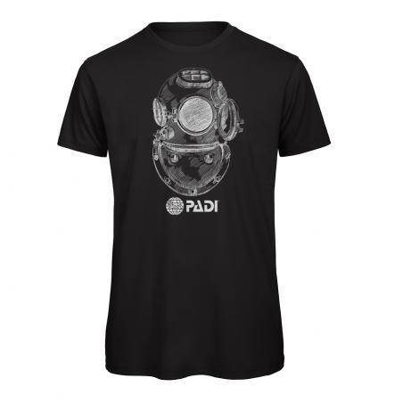Maglietta da uomo PADI Vintage Diving - nera