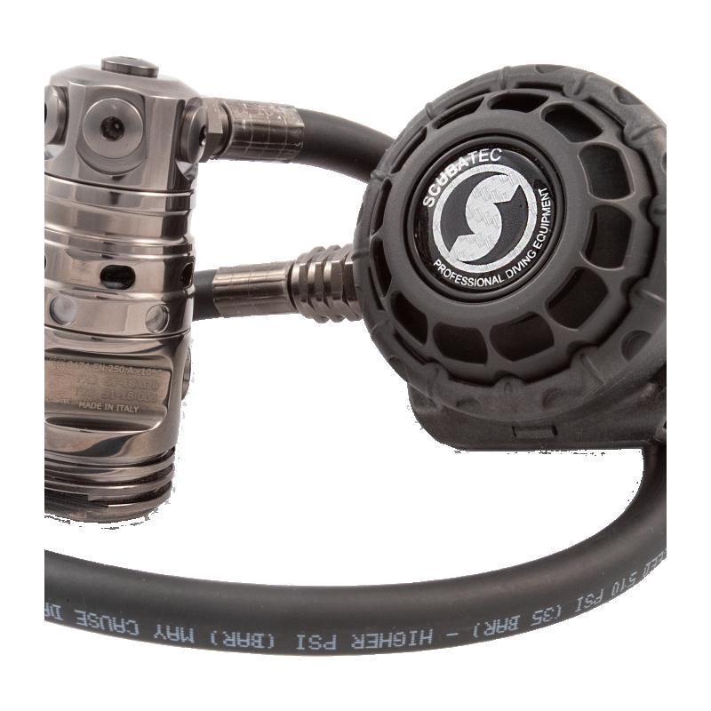 K-CARBON GUN METAL STYLE F22GM-FX3C DIN 300 BAR - Scubatec