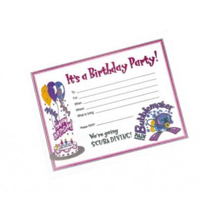 Invitation Card - Bubblemaker Birthday