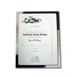 Certificate - Tec 40 Diver,...